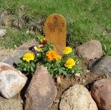 Charlie's grave marker
